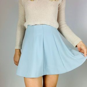 🌵URBAN OUTFITTERS blue high rise aline mini skirt